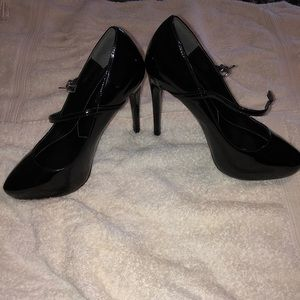 Black Patent Leather Pump Heels